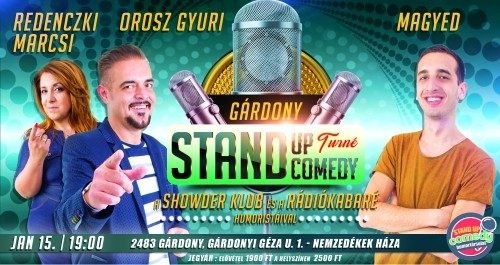 Stand Up Comedy TURNÉ - Gárdony | Stand Up Comedy Humortársulat