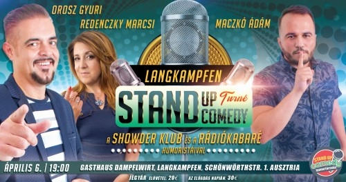 STAND UP COMEDY TURNÉ - Langkampfen (Ausztria) | Stand Up Comedy Humortársulat