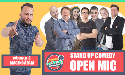Stand up comedy OPEN MIC - BUDAPEST | Stand Up Comedy Humortársulat